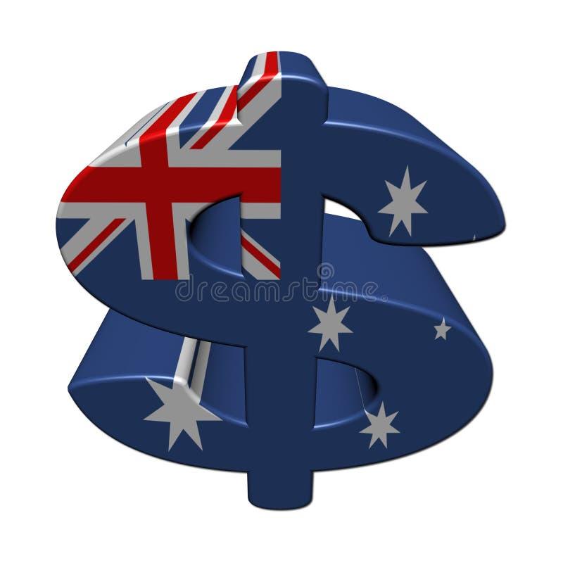 Símbolo del dólar australiano con el indicador libre illustration