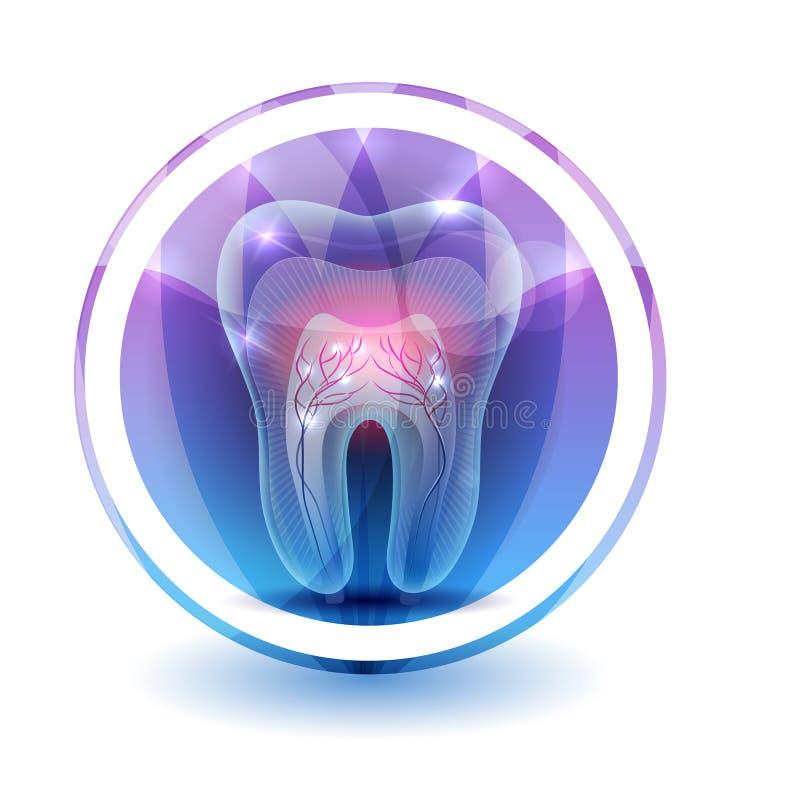 Símbolo del diente libre illustration