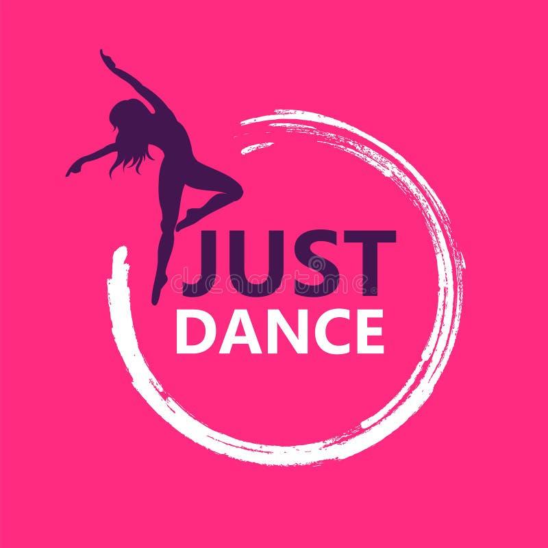 Símbolo del diseño del logotipo de la danza stock de ilustración