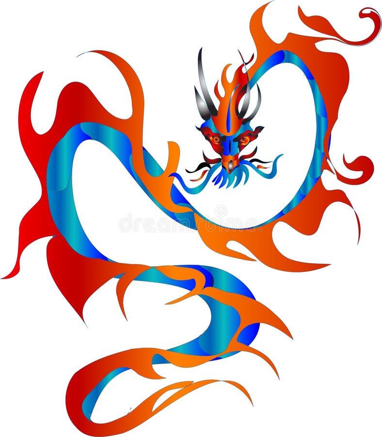 Símbolo del dragón de 2012 ilustración del vector