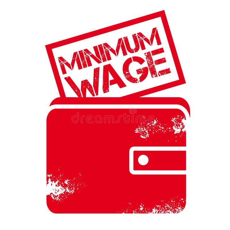 Símbolo del ejemplo del vector del salario mínimo - concepto de la política económica stock de ilustración