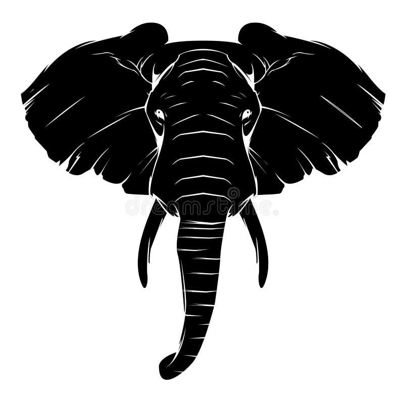 Símbolo del elefante del tatuaje stock de ilustración