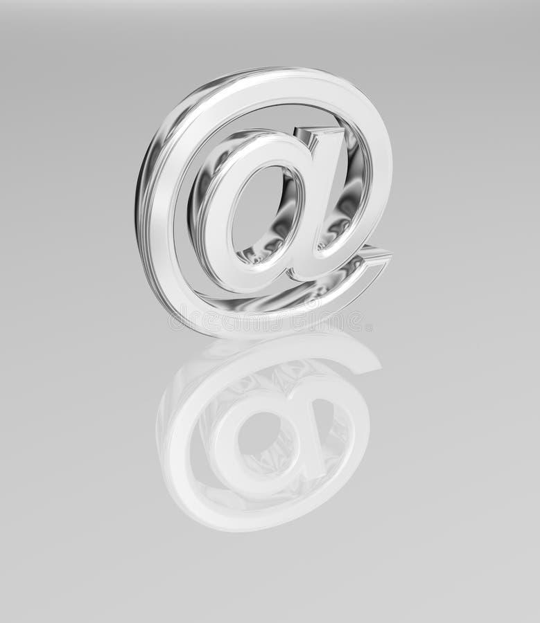 símbolo del email 3D stock de ilustración