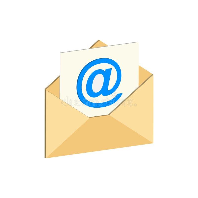 Símbolo del email Icono o logotipo isométrico plano stock de ilustración