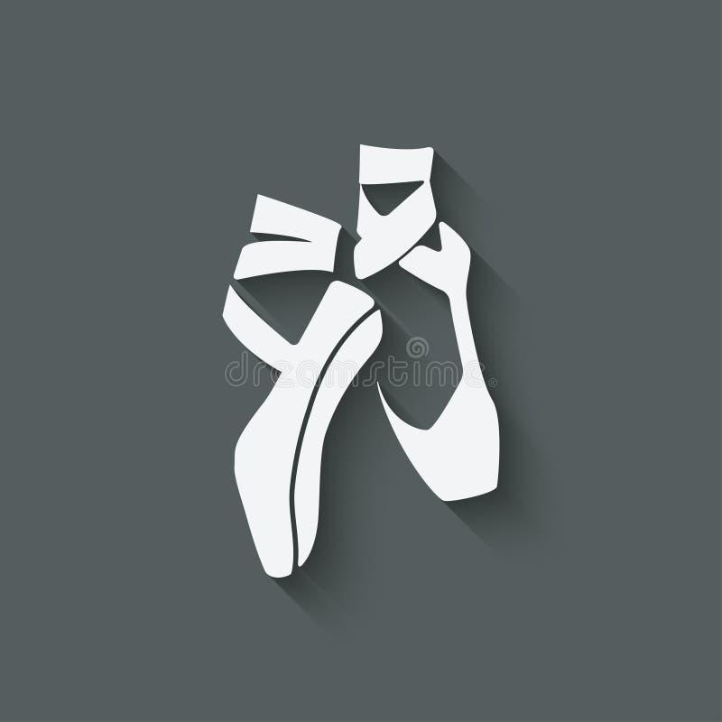 Símbolo del estudio de la danza del ballet imagenes de archivo