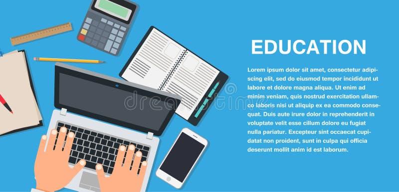 Símbolo del estudio de la educación escolar aislado Icono de la muestra del vector del concepto de la universidad Literatura de l libre illustration