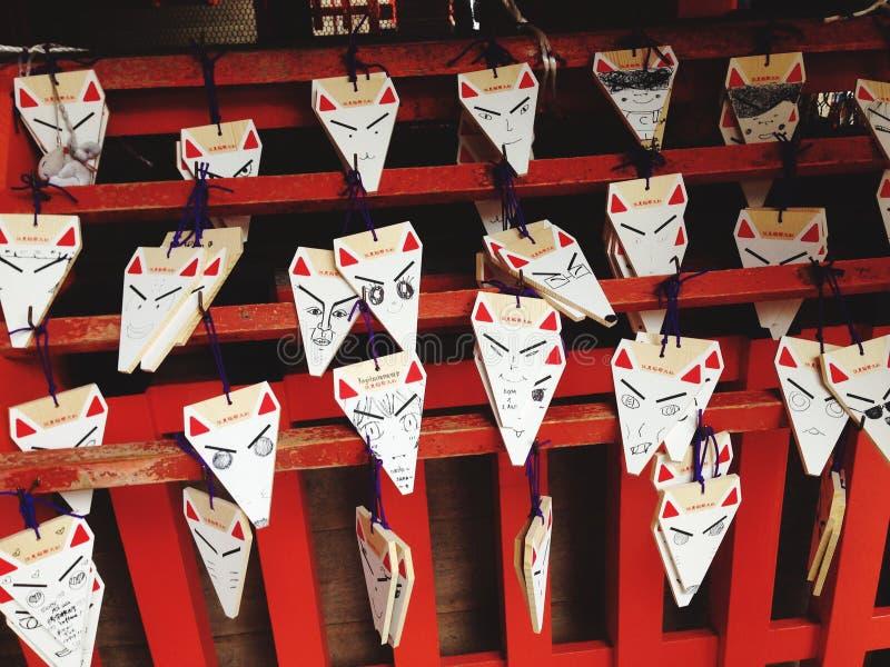 Símbolo del Fox en el condado de Fushimi Inari imagenes de archivo