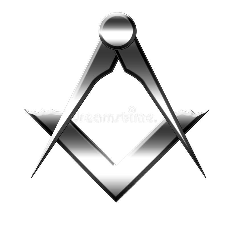 Símbolo del Freemason stock de ilustración