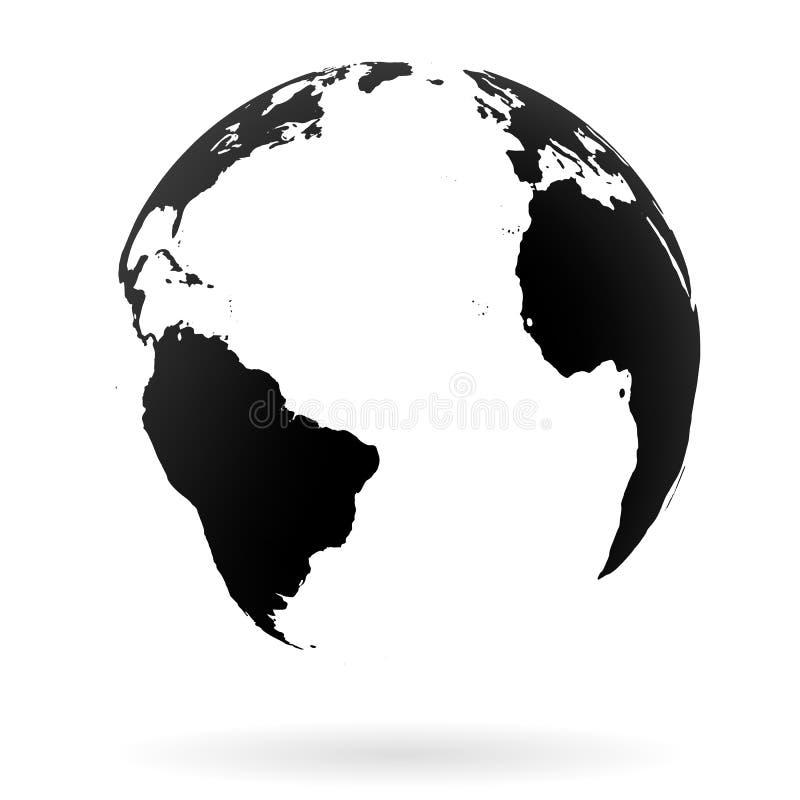Símbolo del globo de la tierra ilustración del vector