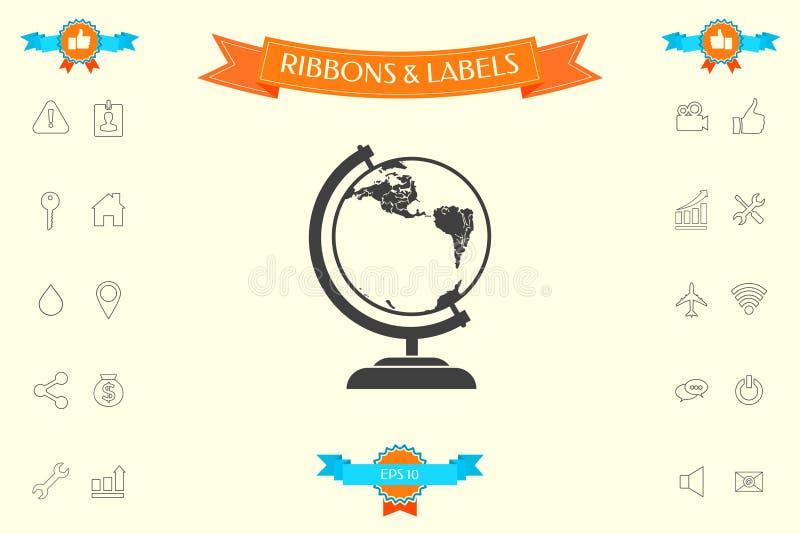 Símbolo del globo - icono libre illustration