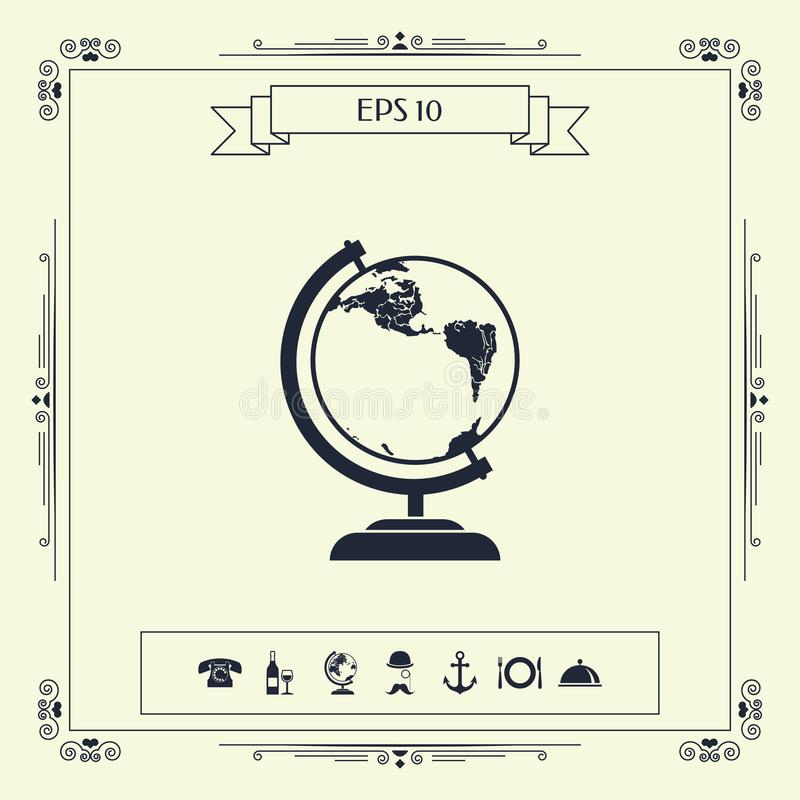 Símbolo del globo - icono stock de ilustración