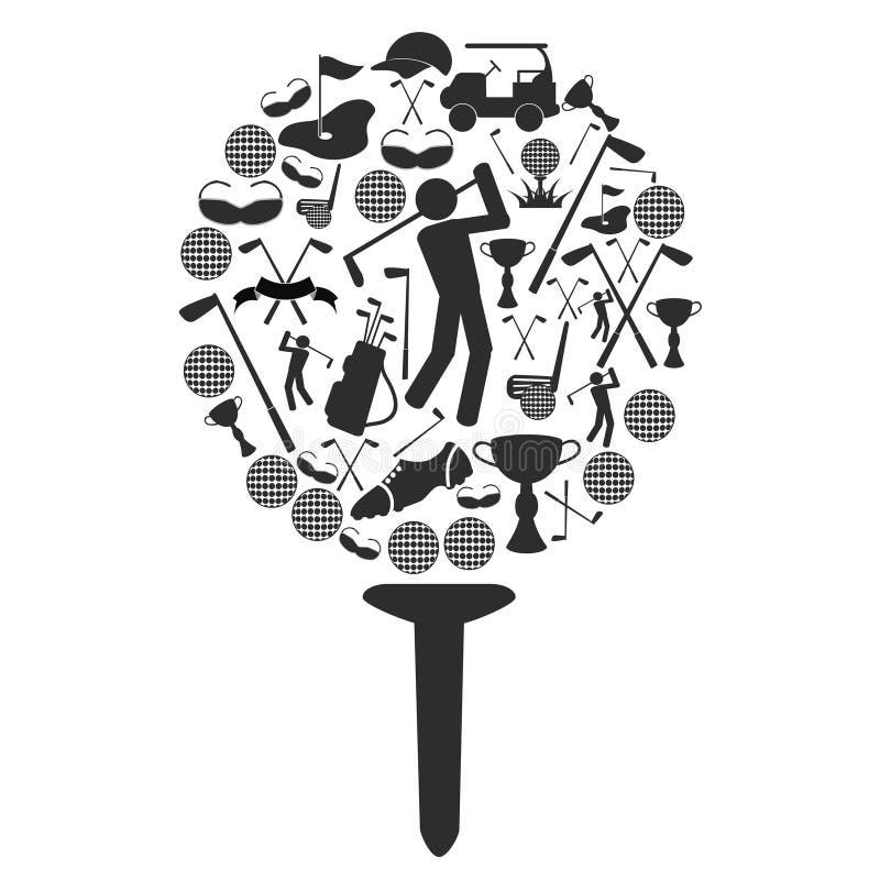 Símbolo del golf ilustración del vector