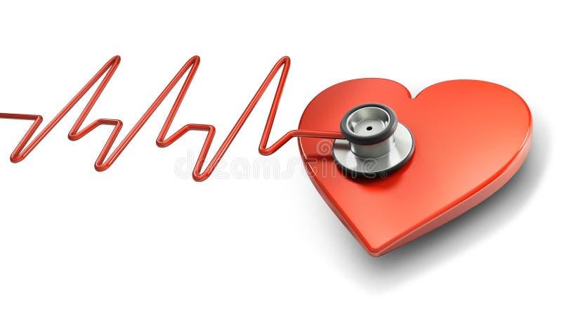 Símbolo del golpe de corazón ilustración del vector