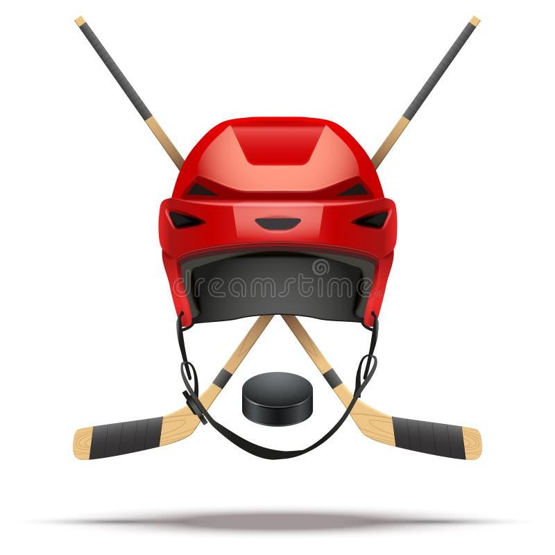 Símbolo del hockey sobre hielo Elementos del diseño stock de ilustración