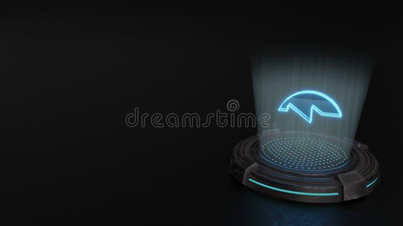 símbolo del holograma 3d rápidamente adelante de 1 icono rendir fotos de archivo libres de regalías
