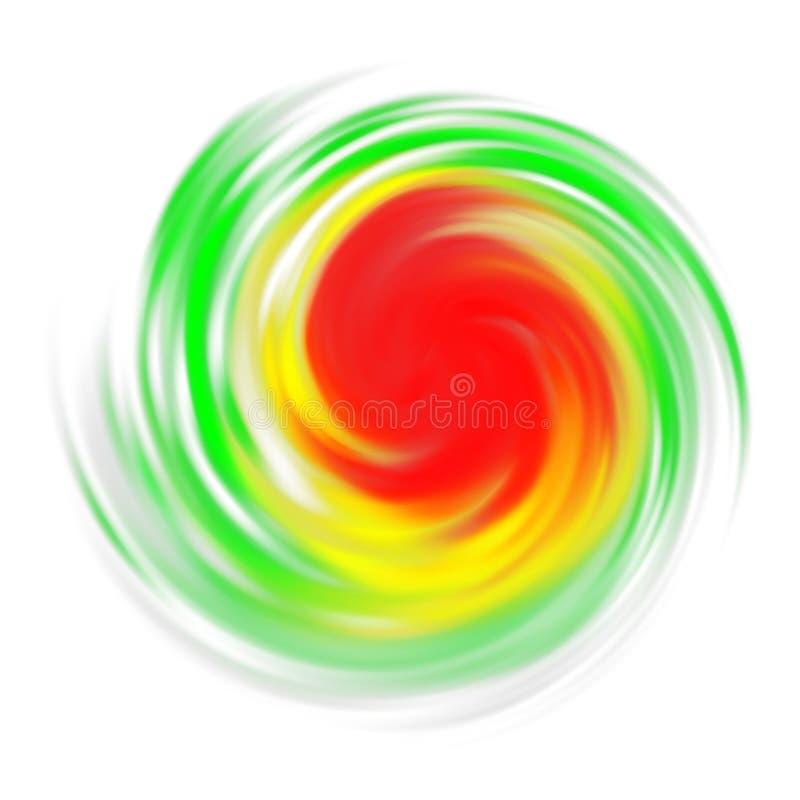 Símbolo del huracán con la indicación de la intensidad aislada en blanco libre illustration