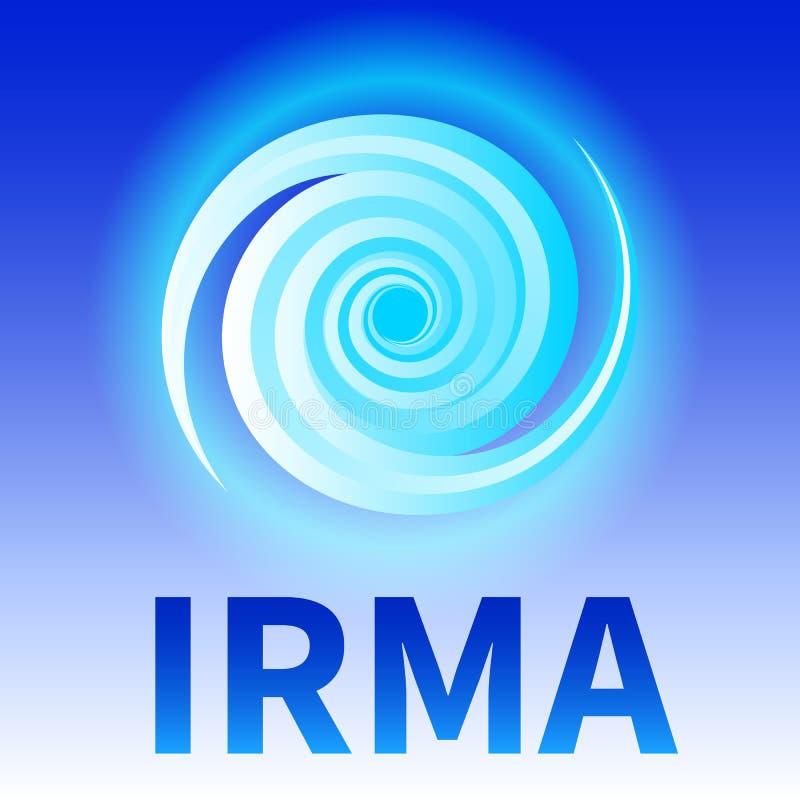 Símbolo del huracán Irma libre illustration