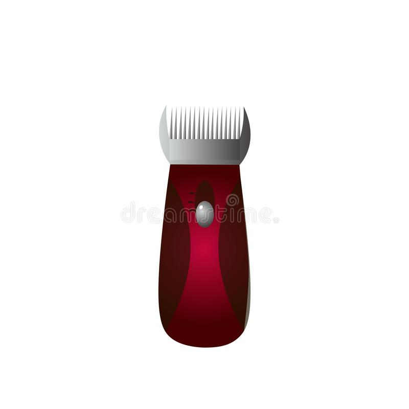 Símbolo del icono del condensador de ajuste de la máquina de afeitar eléctrica aislado en el fondo blanco ilustración del vector