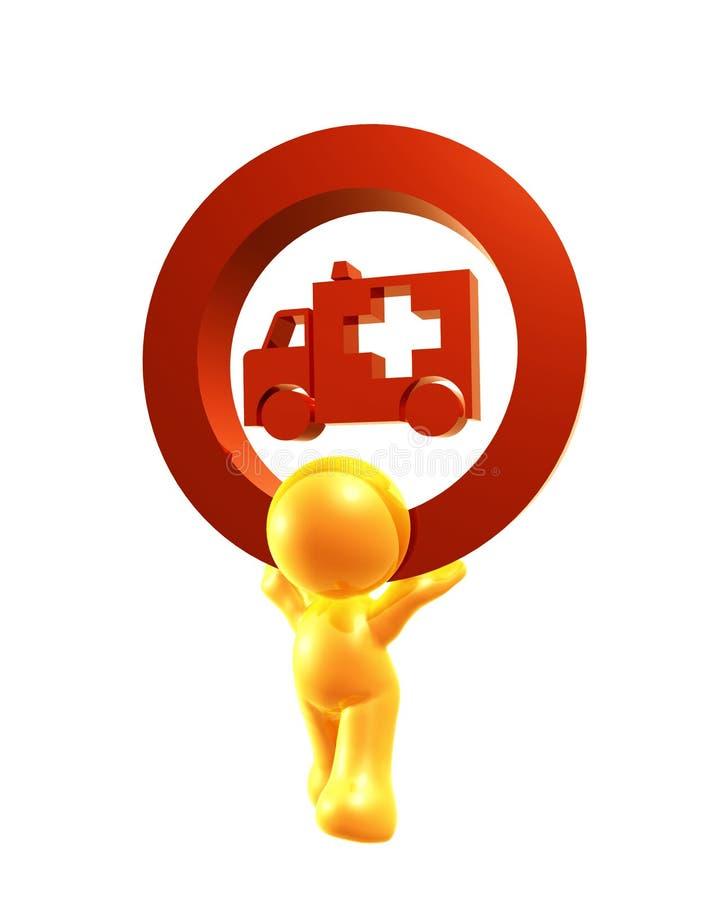 Símbolo del icono de la ambulancia stock de ilustración