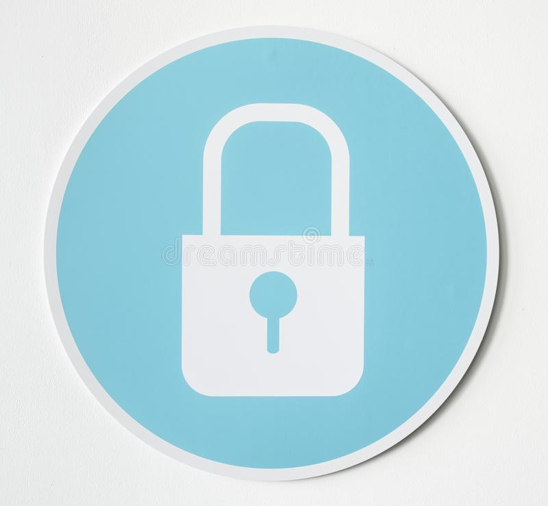 Símbolo del icono de la cerradura de seguridad de la privacidad fotos de archivo libres de regalías