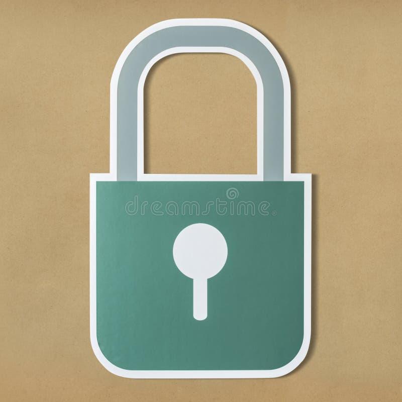 Símbolo del icono de la cerradura de seguridad de la privacidad imagen de archivo