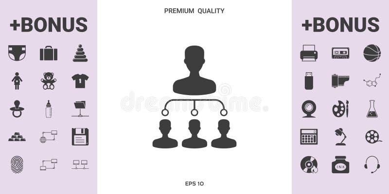 Símbolo del icono de la jerarquía libre illustration