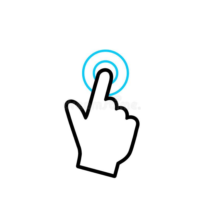Símbolo del icono de la pantalla táctil, icono simple del vector stock de ilustración