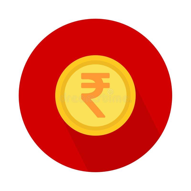 Símbolo del icono de la rupia india aislado en el fondo blanco Ejemplo del dinero del vector stock de ilustración