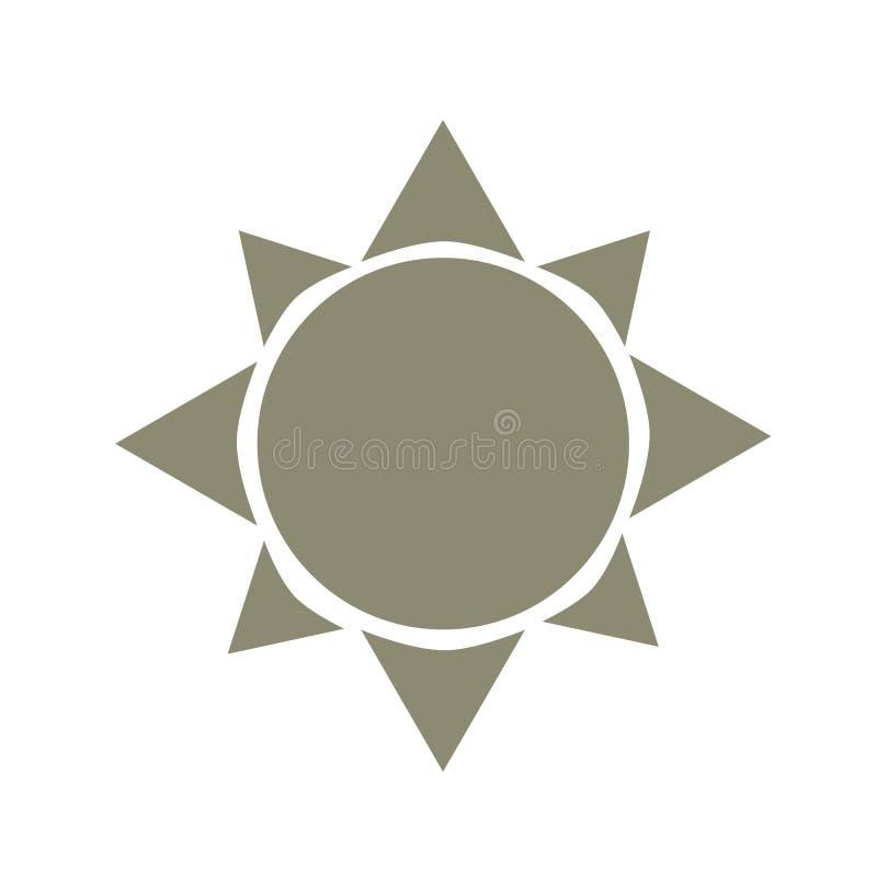 Símbolo del icono de Sun stock de ilustración