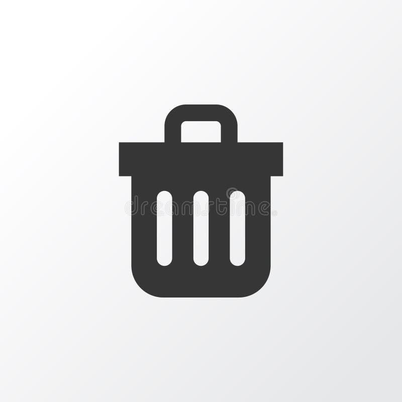 Símbolo del icono del bote de basura Elemento superior de la Papelera de reciclaje de la calidad en estilo de moda ilustración del vector