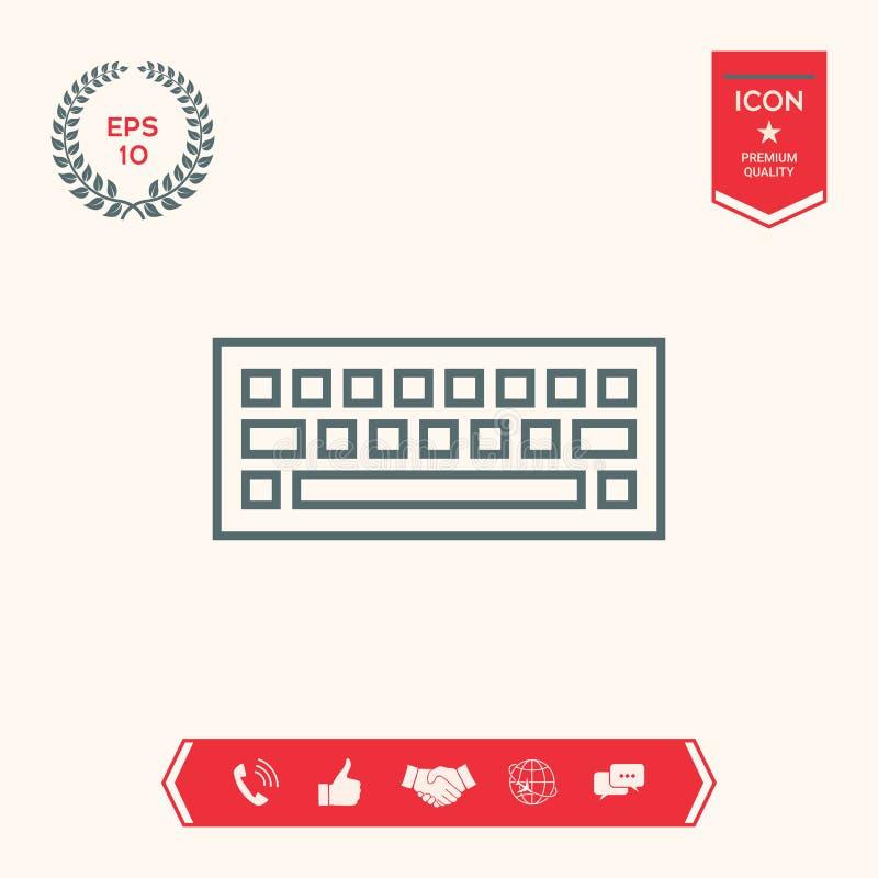 Símbolo del icono del teclado ilustración del vector