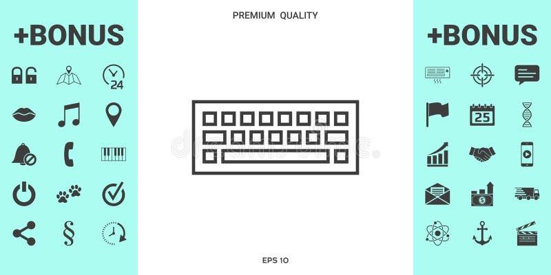 Símbolo del icono del teclado stock de ilustración