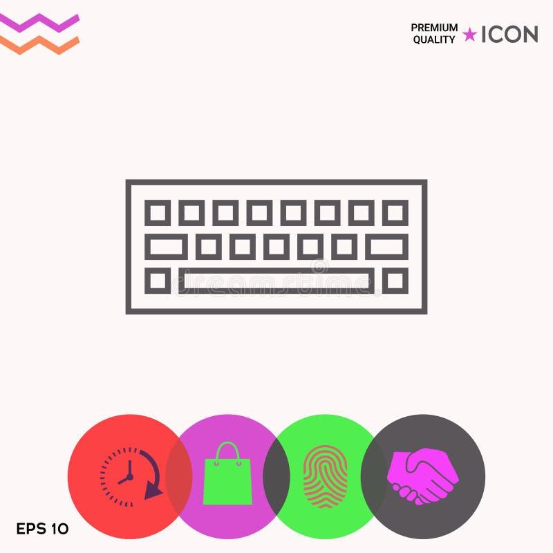 Símbolo del icono del teclado libre illustration