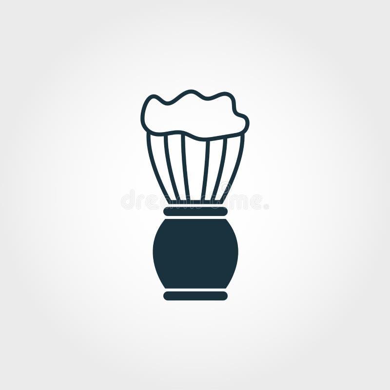Símbolo del icono del vector del cepillo de la espuma Muestra creativa de la colección de los iconos de la peluquería de caballer ilustración del vector