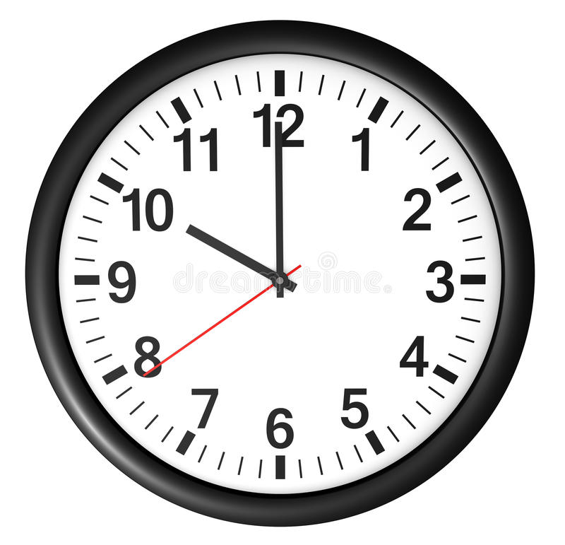 Símbolo del icono y del tiempo del reloj de la oficina ilustración del vector