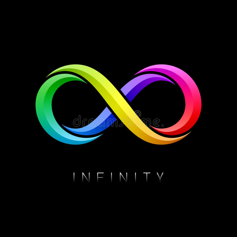 Símbolo del infinito stock de ilustración