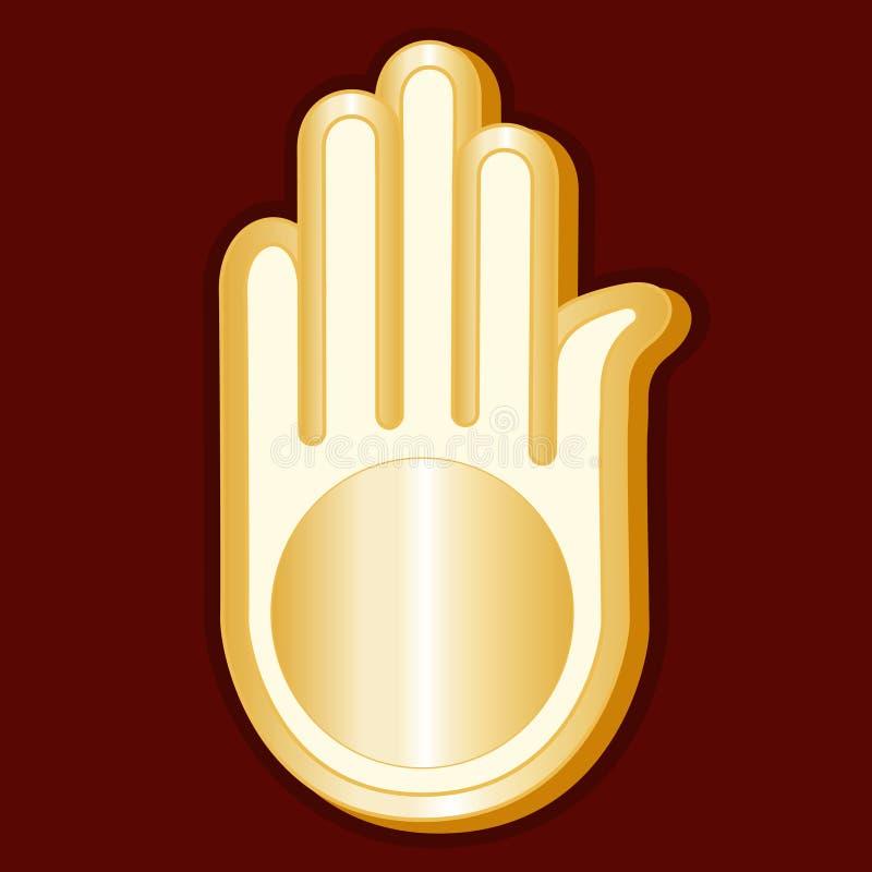 Símbolo del jainismo (JPG +EPS) stock de ilustración