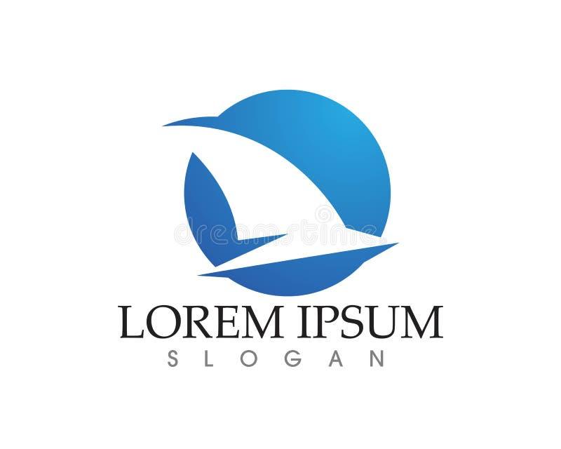Símbolo del logotipo del ala de vuelo del pájaro para un diseñador profesional ilustración del vector