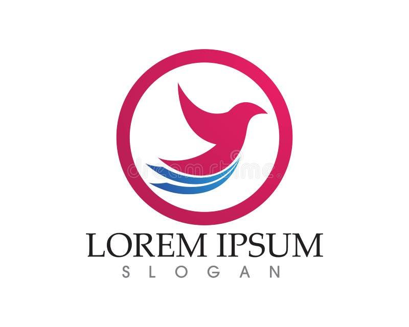 Símbolo del logotipo del ala de vuelo del pájaro para un diseñador profesional stock de ilustración