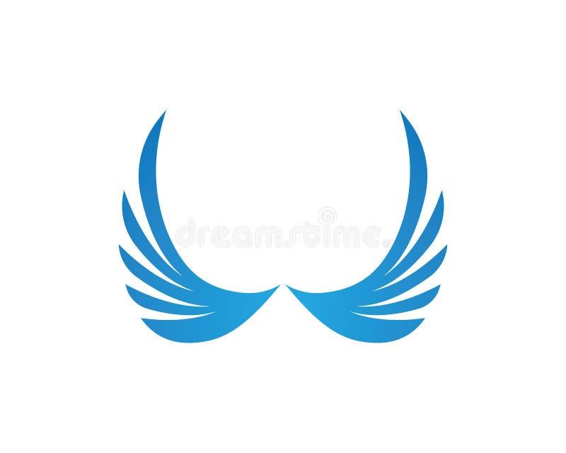 Símbolo del logotipo del ala para un diseñador profesional libre illustration