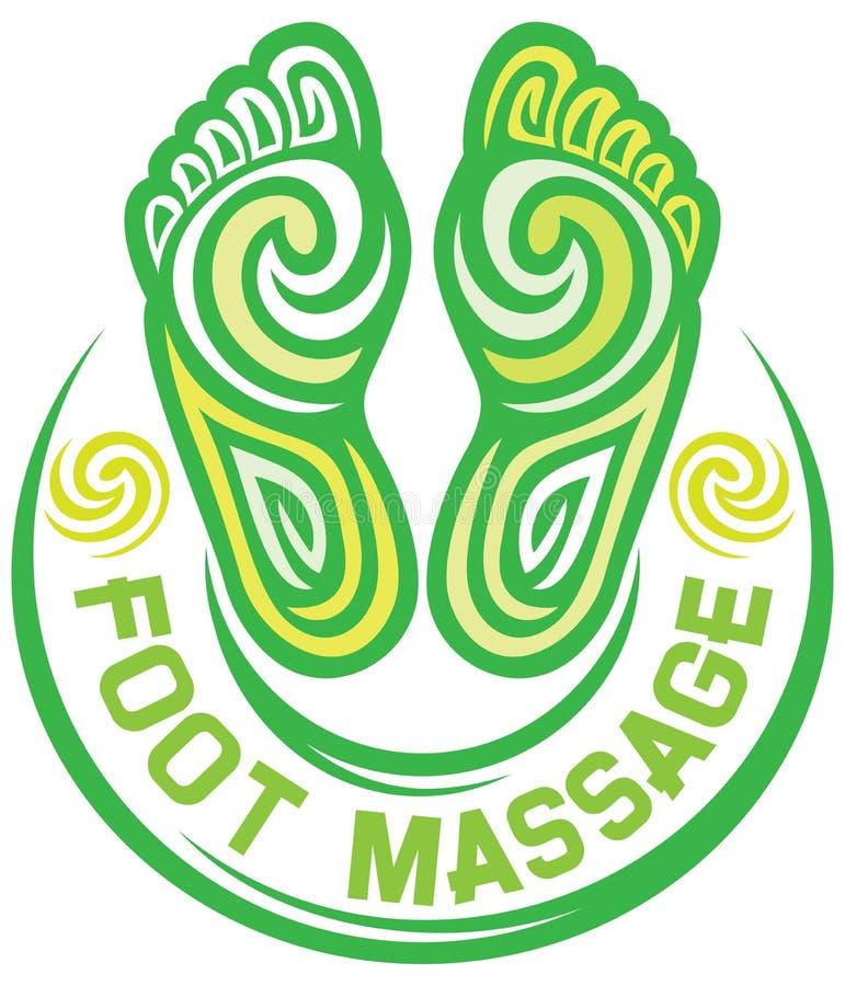 Símbolo del masaje del pie libre illustration