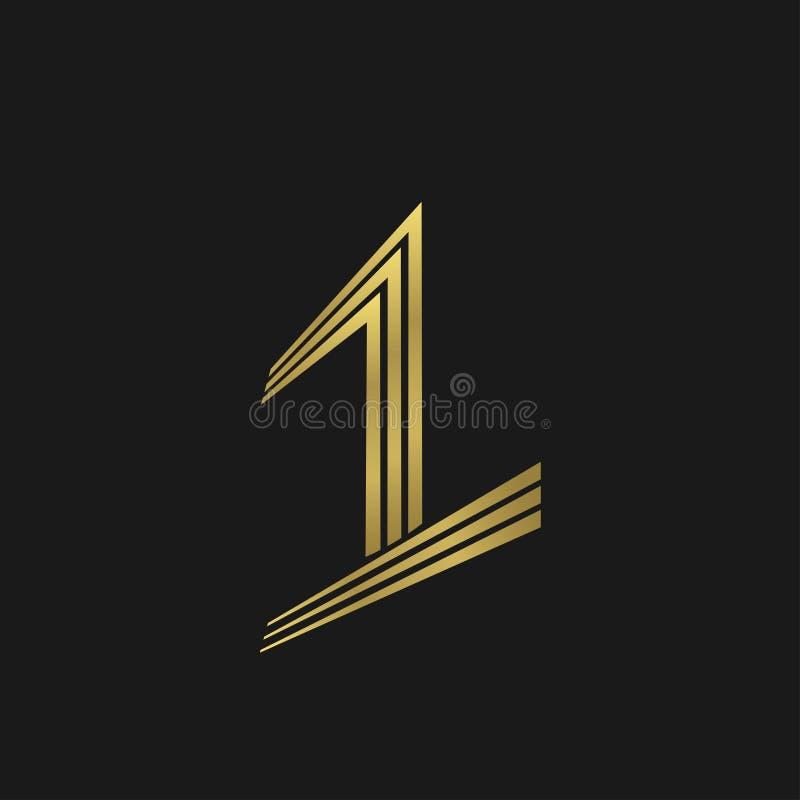 Símbolo del número uno stock de ilustración