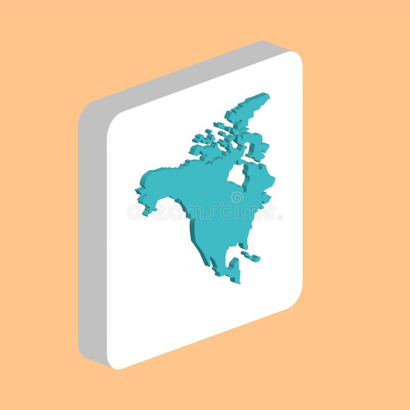 Símbolo del ordenador de Norteamérica, los E.E.U.U. stock de ilustración
