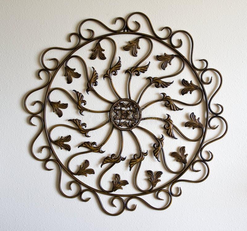 Símbolo del ornamental del metal fotografía de archivo