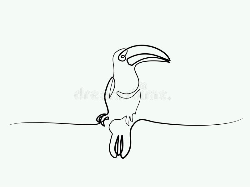 Símbolo del pájaro de Tukan stock de ilustración