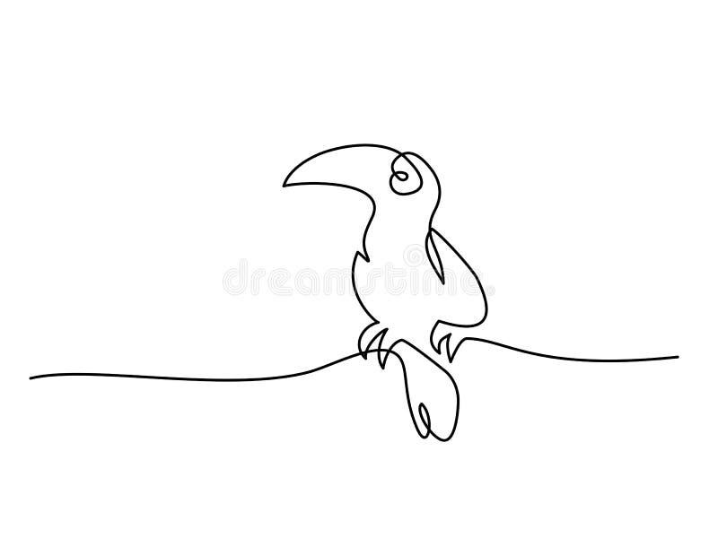 Símbolo del pájaro de Tukan ilustración del vector