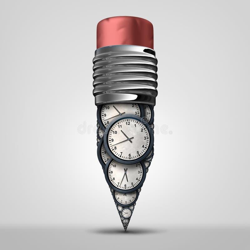Símbolo del plan del tiempo stock de ilustración