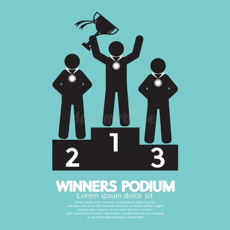 Símbolo del podio de los ganadores ilustración del vector