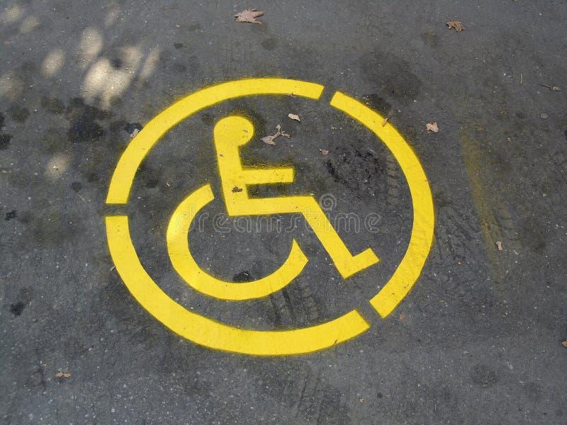 Símbolo del sillón de ruedas fotos de archivo
