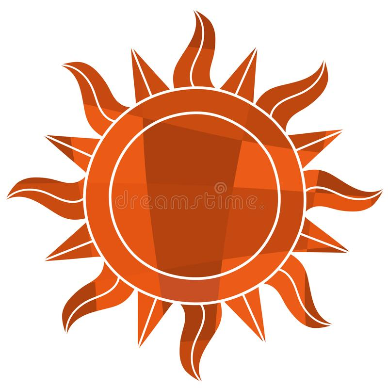 Símbolo del sol del mosaico libre illustration